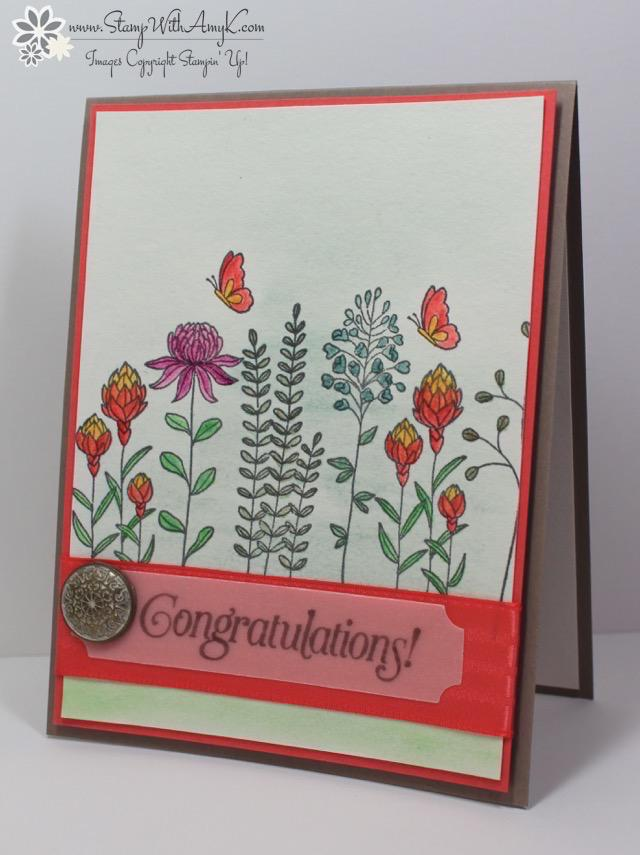Stampin' Up! Flowering Fields Congratulations – Stamp With ...