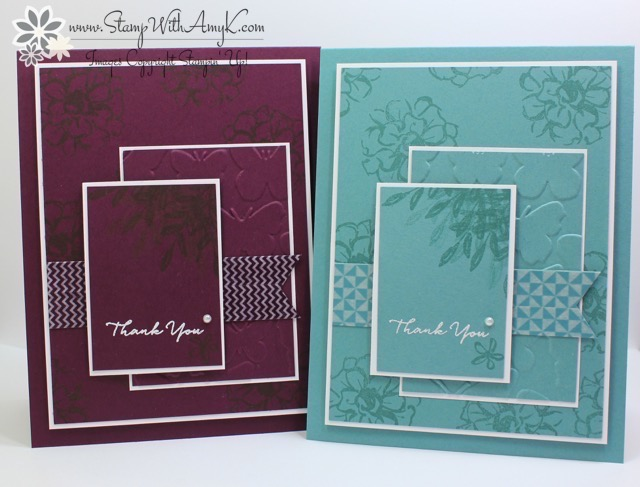 Stampin Up What I Love In Color Thank Yous Stamp With Amy K