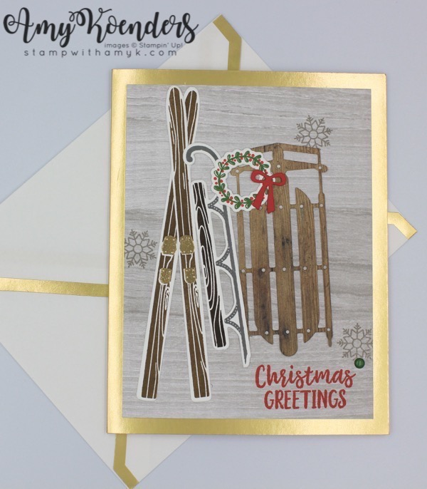 Stampin Up Alpine Adventure Christmas Let It Snow